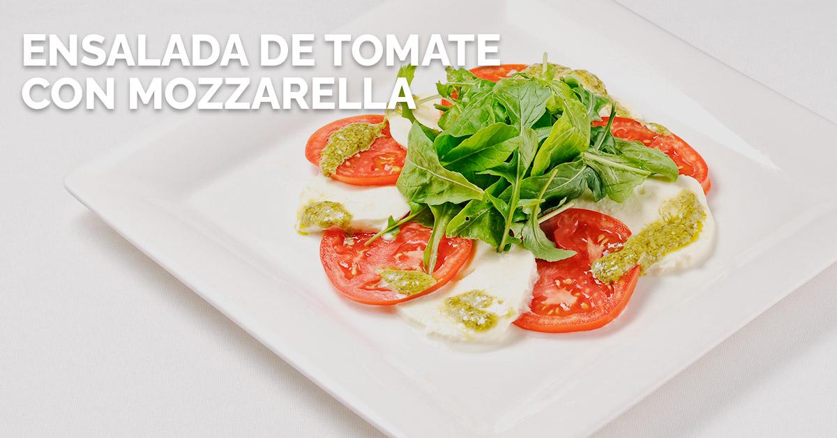 Ensalada de tomate con mozzarella