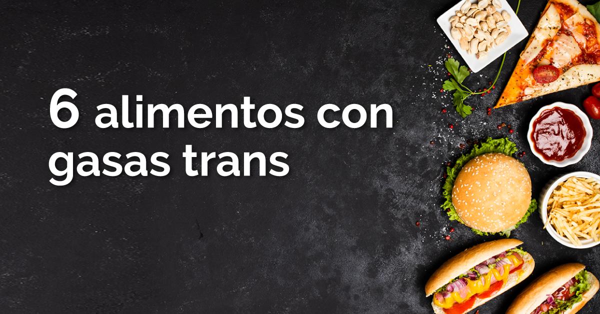 Comidas sin grasas trans para bajar de peso