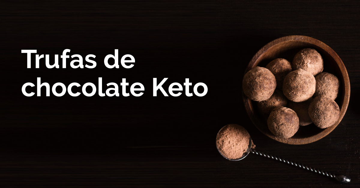 Trufas de chocolate Keto