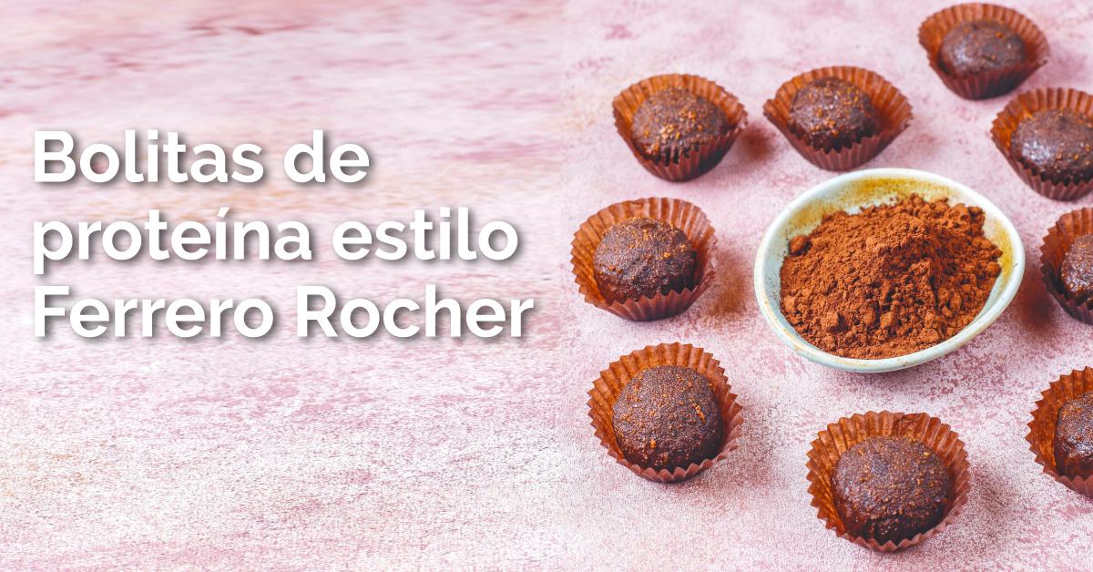 Bolitas de proteína estilo Ferrero Rocher