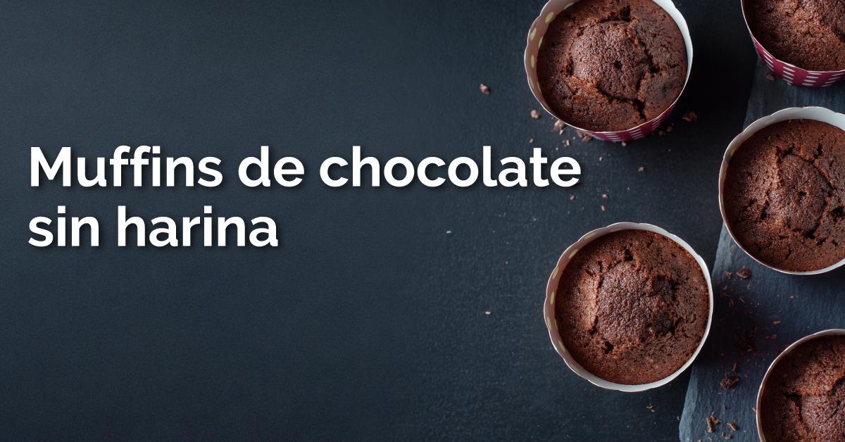 Muffins de chocolate sin harina con 3 ingredientes